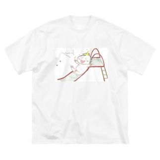 ユニコーンのすべり台 Big silhouette T-shirts
