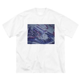 水死体に気付けない Big silhouette T-shirts