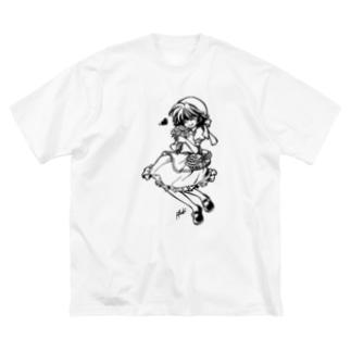 よりみち Big silhouette T-shirts