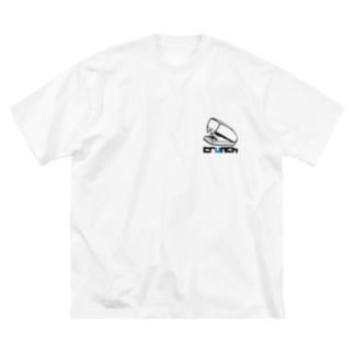 ホッチキス Big silhouette T-shirts