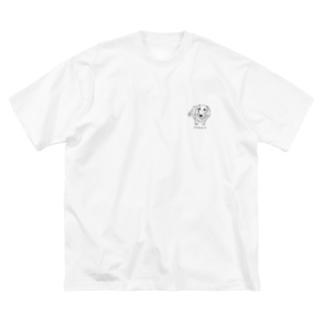 ぽっけくん 02 モノクロ Big silhouette T-shirts