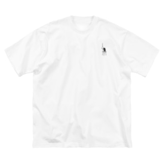 鬱ペンギン Big silhouette T-shirts