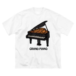 GRANDPIANO-グランドピアノ- Big silhouette T-shirts