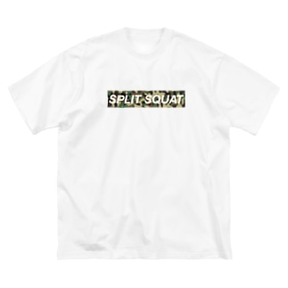 SPLIT SQUAT カモ柄BOXロゴ Big silhouette T-shirts