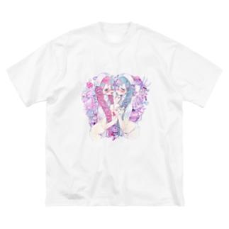 ナースちゃん Big silhouette T-shirts