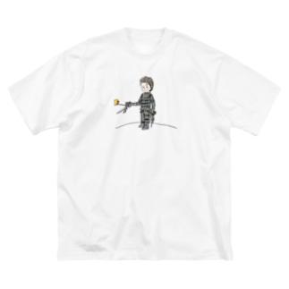 手がハサミの王子さま(星の王子さま) Big silhouette T-shirts