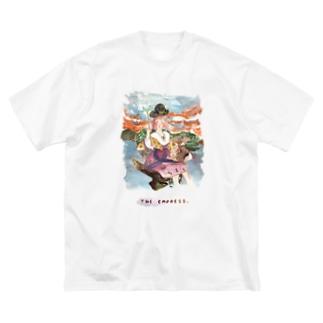 【タロットカード×埴輪】THE EMPRESS/女帝 Big silhouette T-shirts