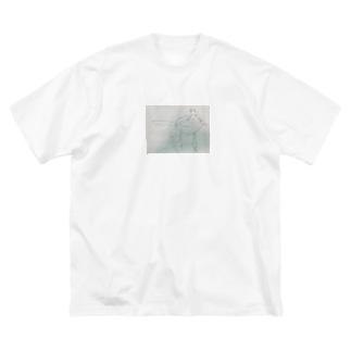 夕方のiPhone Big silhouette T-shirts
