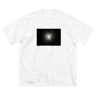 月夜 Big silhouette T-shirts