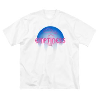 くものうえ (青ピンク) Big silhouette T-shirts