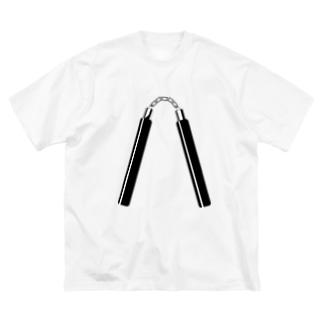 ヌンチャク(双節棍)【黒】 Big silhouette T-shirts