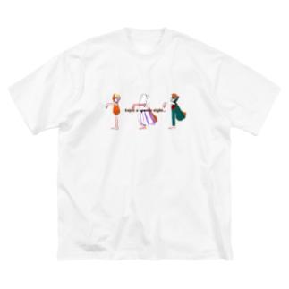 不気味な夜を楽しんで… Big silhouette T-shirts
