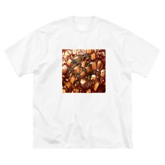 麻婆豆腐 Big silhouette T-shirts