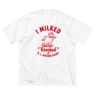 MATHIS DAIRY Big silhouette T-shirts