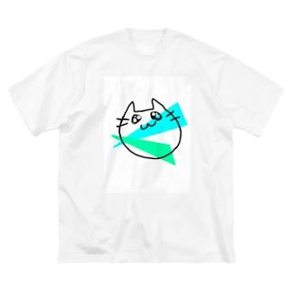 らくがきねこ Big silhouette T-shirts