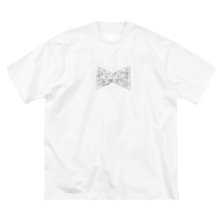 カオスなリボン Big silhouette T-shirts