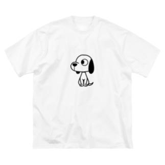 横向きワンコ Big silhouette T-shirts