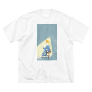 夜の読書 Big silhouette T-shirts