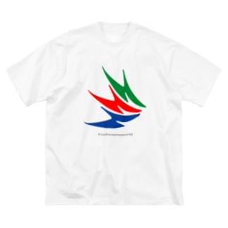 さいたぁマンマーク柄 Big silhouette T-shirts