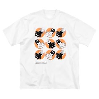 ネコ兄弟 tXTC_68 Big silhouette T-shirts