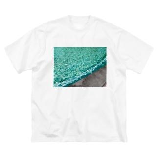 みどりのふんすい Big silhouette T-shirts