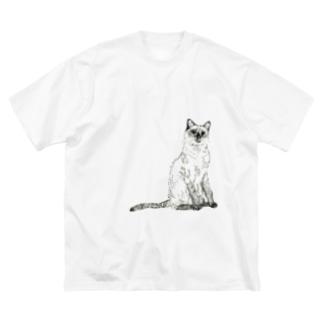 シャムネコ Big silhouette T-shirts
