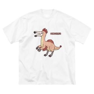 恐竜 デイノケイルス Big silhouette T-shirts