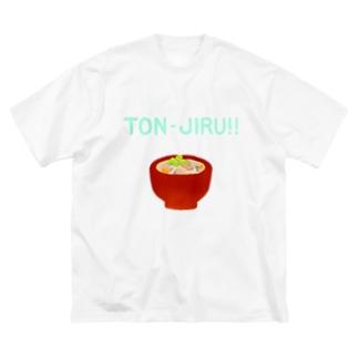 TON-JIRU!! Big silhouette T-shirts