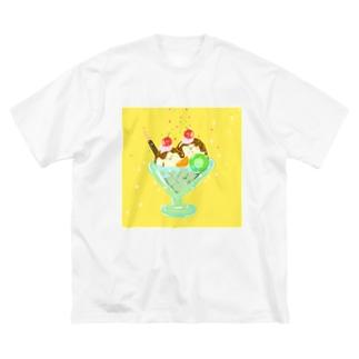 パルフェ Big silhouette T-shirts