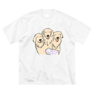 うちの子1番☆りん&かいり&ふうと Big silhouette T-shirts