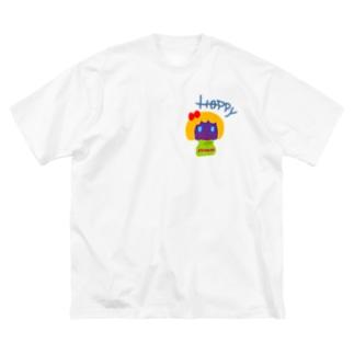 はぴはぴ💕 Big silhouette T-shirts