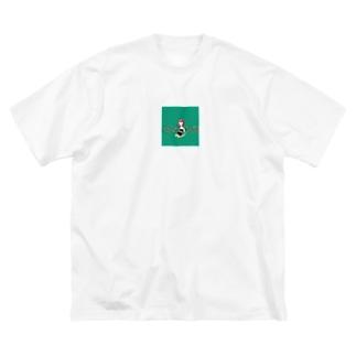 緑の女の子 Big silhouette T-shirts