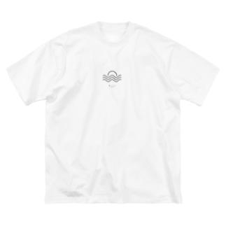 sun(black) Big silhouette T-shirts