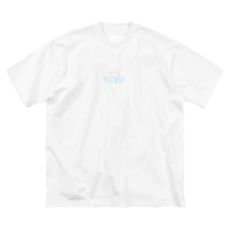 sun(color) Big silhouette T-shirts