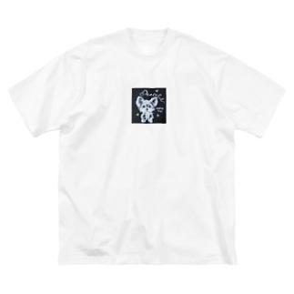 ヨークシャテリア Big silhouette T-shirts