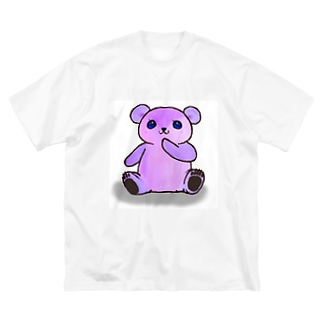 はにかみクマちゃん Big silhouette T-shirts