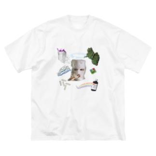 危ないアイテム Big silhouette T-shirts