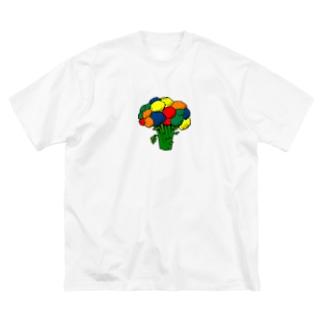 カラフロッコリー Big silhouette T-shirts