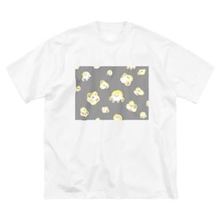 ポッコーンだいしゅうごう!グレー Big silhouette T-shirts