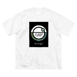 arogi スタッフロゴTシャツ Big silhouette T-shirts