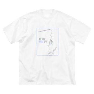 PUT YOUR HANDS UP !! Big silhouette T-shirts
