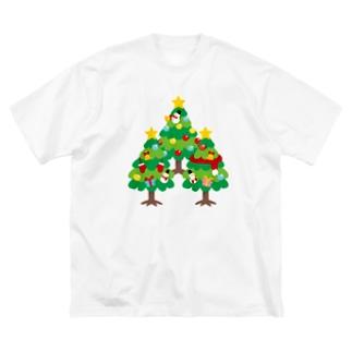 CT89 森さんのクリスマスA Big silhouette T-shirts