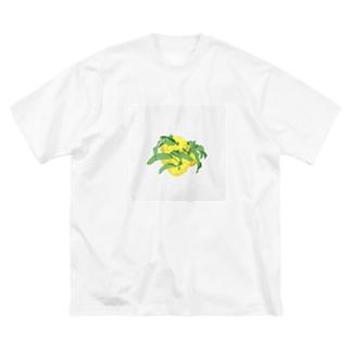 ゆず Big silhouette T-shirts
