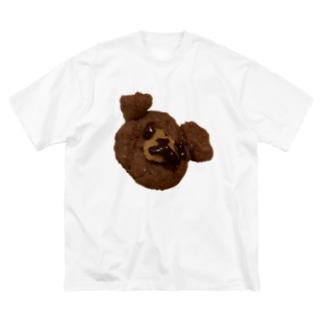 クマちゃん(熊) Big silhouette T-shirts