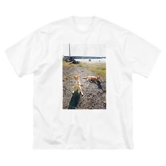 猫写真家 森永健一 Feel So High shopのにゃんこボクサー Big silhouette T-shirts