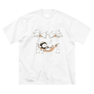 MINI BANANA ハワイアン Big silhouette T-shirts