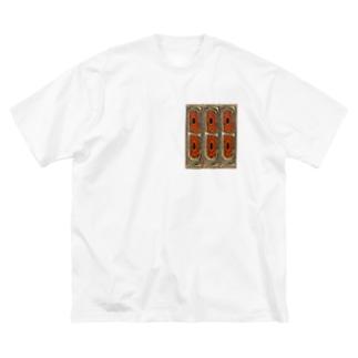 アボリジニデザイン Big silhouette T-shirts