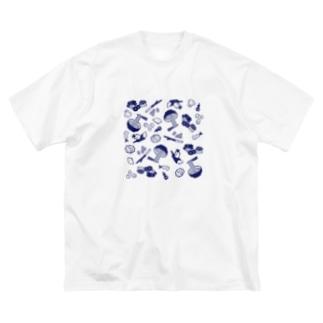 WEBYAのうどん屋にありそうなグッズ Big silhouette T-shirts