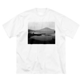 富士山とおじさん Big silhouette T-shirts