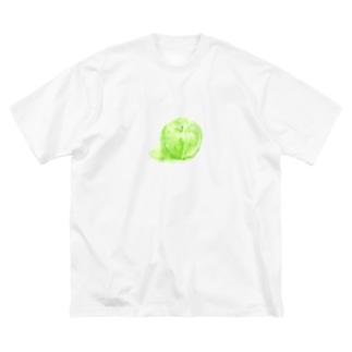 ノートに描いたリンゴ Big silhouette T-shirts